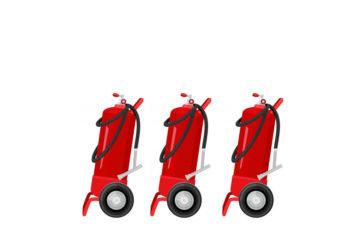 Tekerlekli yangın söndürme tüpü